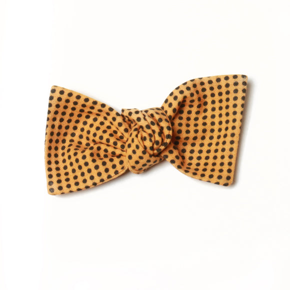 Muted Orange Dots Sydnee Bow