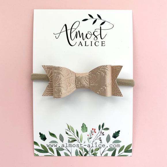Rose Gold Embossed Kassidy Jane Bow (2 sizes)