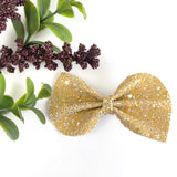 Mustard Glitter Large Reese Bow