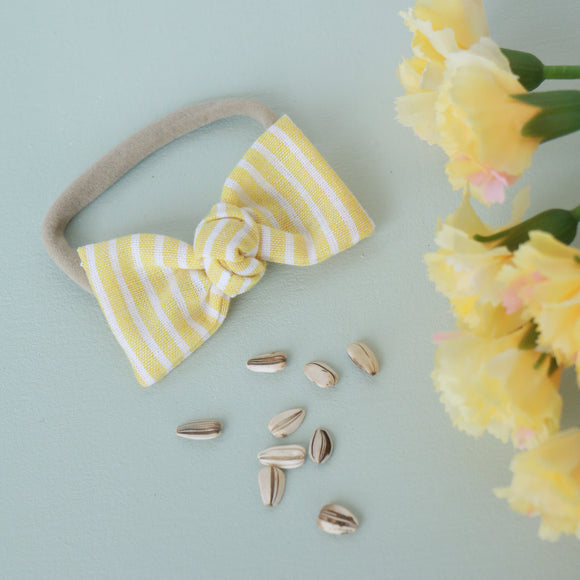 Sunflower Yellow Stripe Sydnee Bow