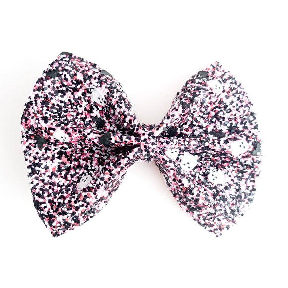Girly Ghosts & Bats Glitter Delilah Bow