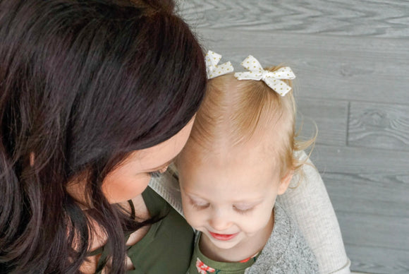 Gold Dot Mini Isabella Bows