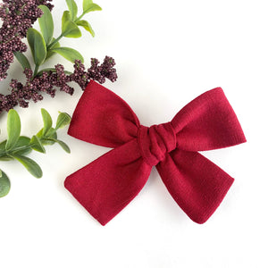 Harvest Red Linen Isabella Bow