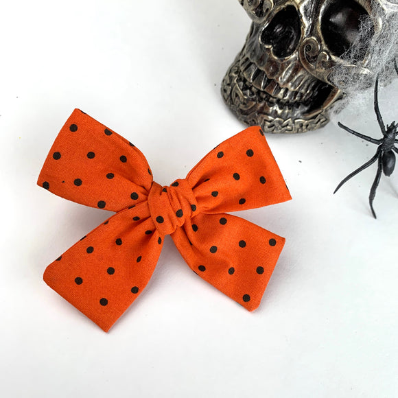 Orange Dot Isabella Bow