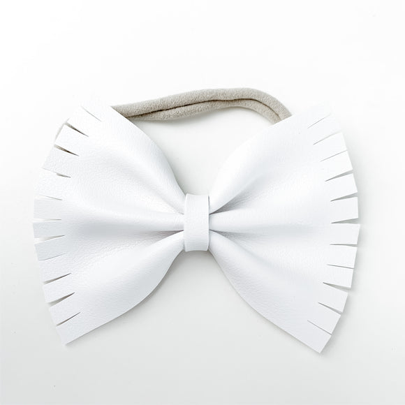 Pure White Smooth Extra Large Caroline Bow