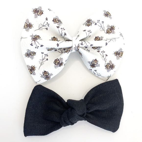 Oh, Honey Bee Bow Set (Delilah + Sydnee)