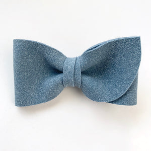 Lake Blue Suede Kate Bow