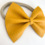 Mustard Delilah Bow (3 Sizes)