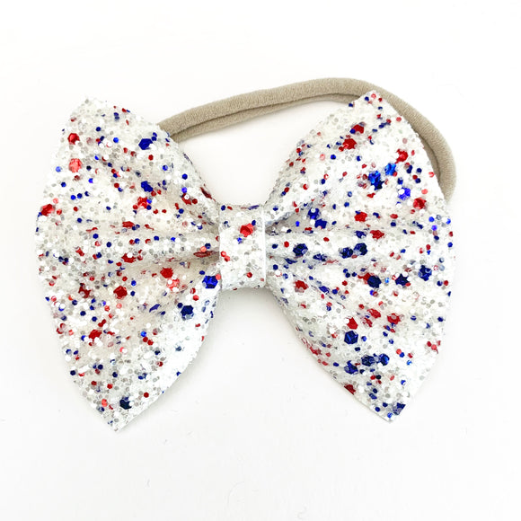 Mrs. USA Glitter Delilah Bow