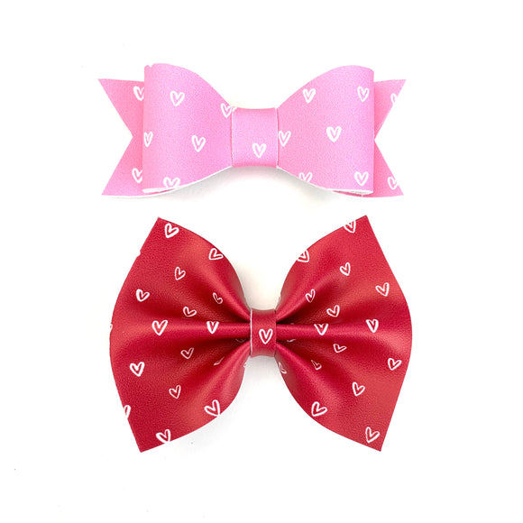 Tiny Hearts Bow Set of 2
