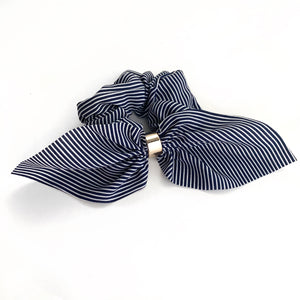 Navy Stripe - Fancy Scrunchie