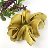 Dark Mustard Satin- Scrunchie