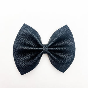 Black Textured Delilah Bow (2 Sizes)