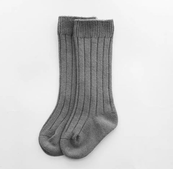 Grey Ribbed Socks (4 Sizes)