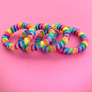 Lolly Pop Spiral Twisted Hair Ties