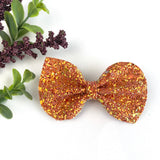 Harvest Orange Glitter Large Reese Bow