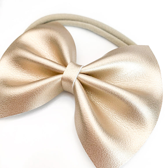 Soft Gold Delilah Bow (2 Sizes)