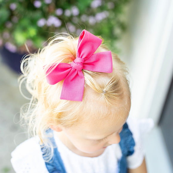 Bright Pink Isabella Bow