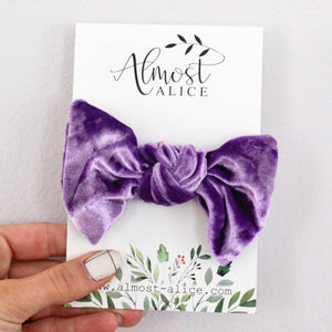 Purple Velvet- Samantha Bow