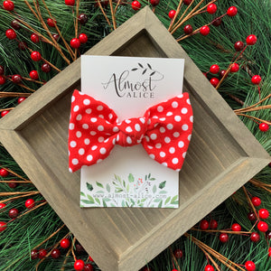 Red Polka Dot Samantha Bow