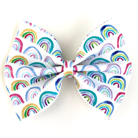 Watercolor Rainbows Medium Delilah Bow