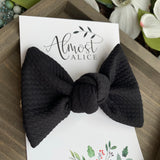 Black Textured Samantha Bow