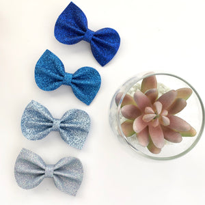 Blue Felt Reese Bow Collection