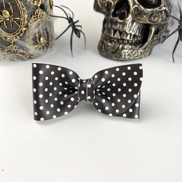 Black + White Dot Kate Bow
