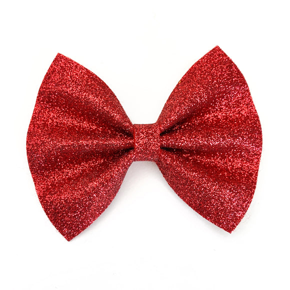 Ruby Red Glitter Delilah Bow