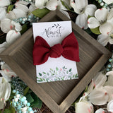 Cranberry Textured Samantha Bow