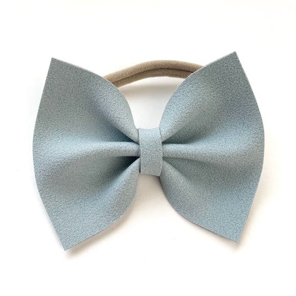 Powder Blue Suede Delilah Bow