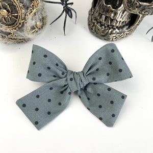 Grey Dot Isabella Bow