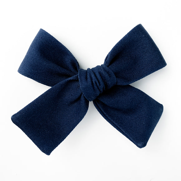 Navy Blue Isabella Bow