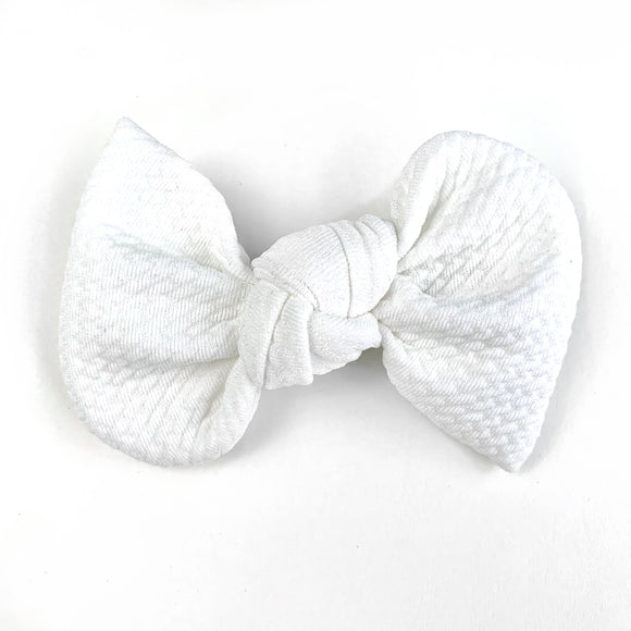 Off White Textured Madison Bow