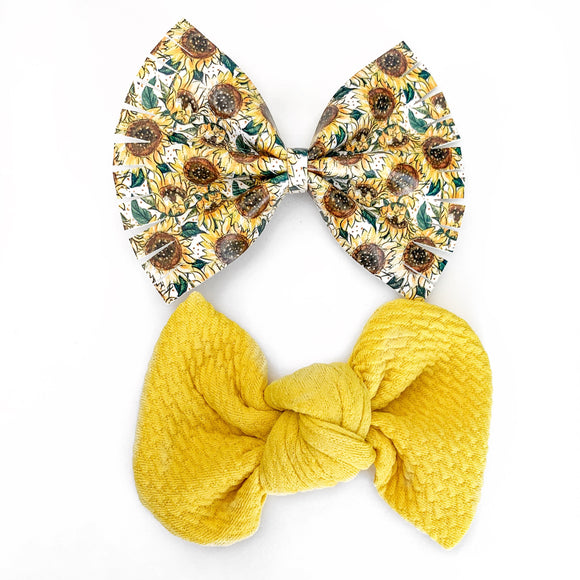 Sunflower Season Bow Set