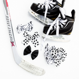 Hockey Bow Set of 3 (Headbands or Clips)
