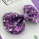 Lavender Fields Glitter Reese Bow (2 sizes)