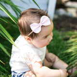 Light Pink Glitter Reese Bow (2 sizes)