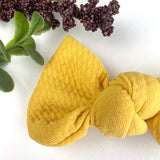 Sunflower Textured Madison Bow