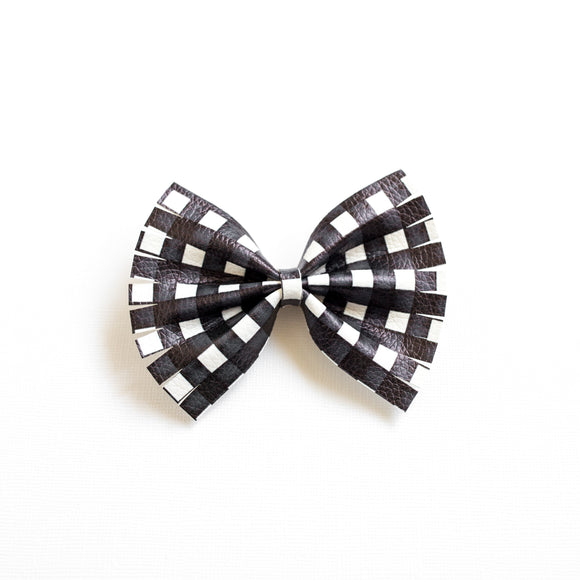 Midnight Plaid Large Caroline Bow