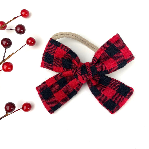 Flannel Buffalo Plaid Isabella Bow