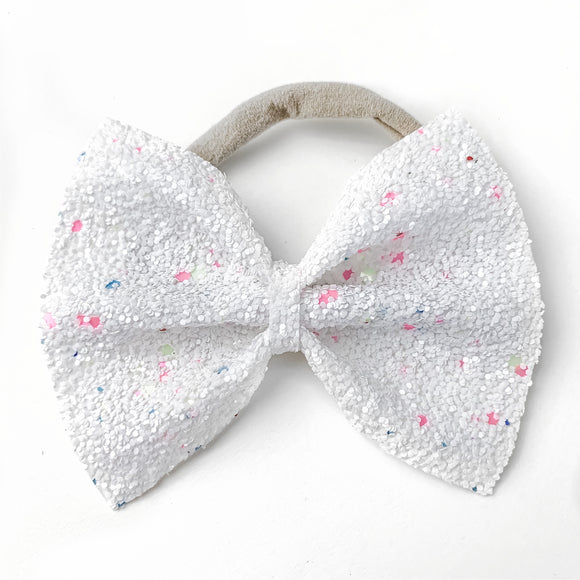 Salt Water Taffy Glitter Large Delilah Bow