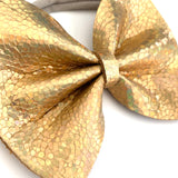 Gold Disco Large Delilah Bow