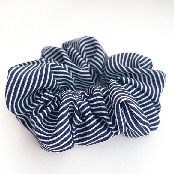 Navy Stripe- Scrunchie