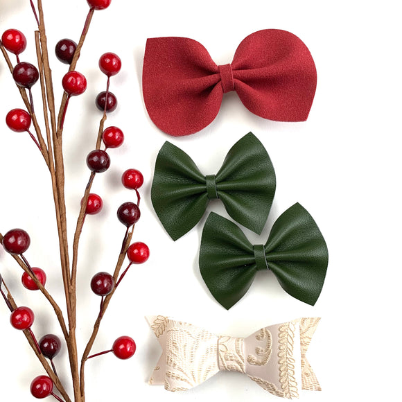 Christmas Basics Bow Set of 3