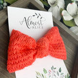 Coral Knit Samantha Bow