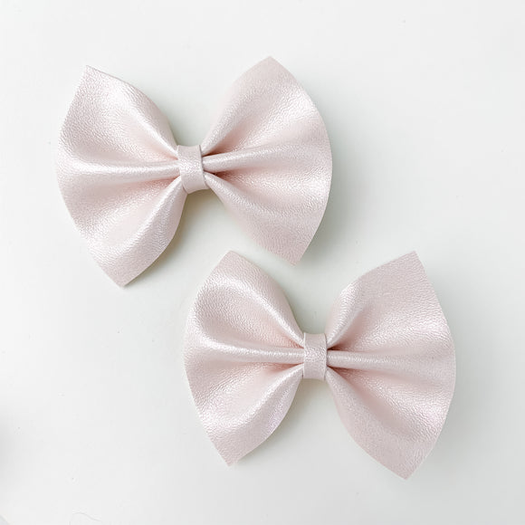 Nude Blush Mini Delilah Bows (Set of 2)