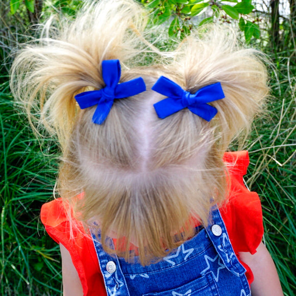 Royal Blue Mini Isabella Bows (Set of 2)