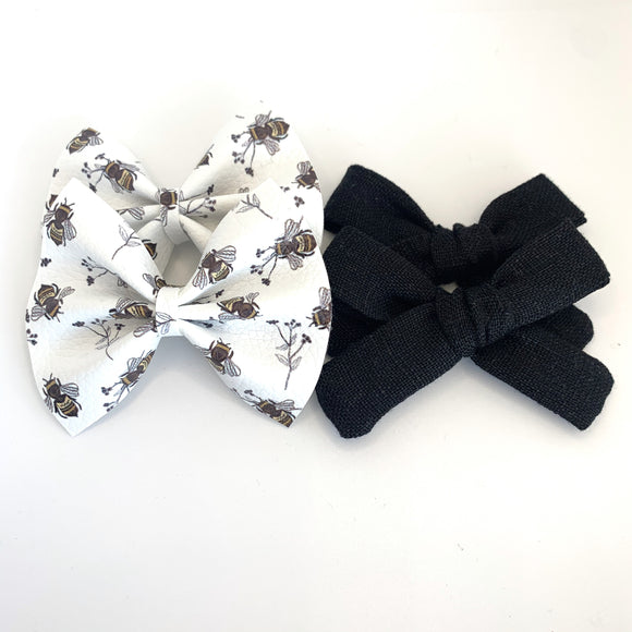 Oh, Honey Bee Mini Bow-Set of 2 (4 bows)