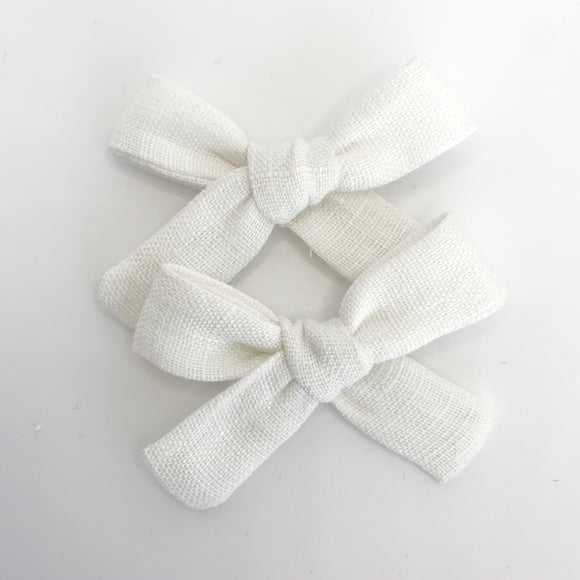 White Linen Mini Isabella's (SET OF 2 or Headband)